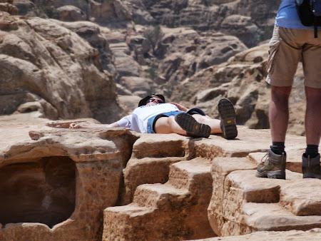 Turist sacrificat la Petra