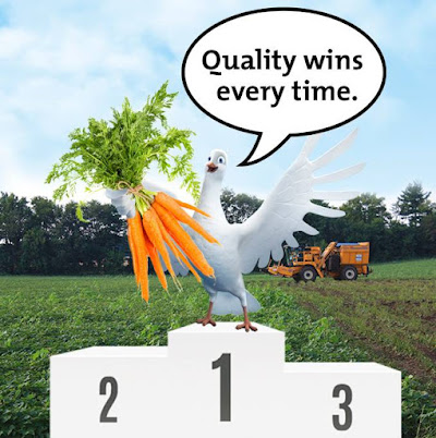 Only highquality veggies make it to the Birds Eye Winners Stand