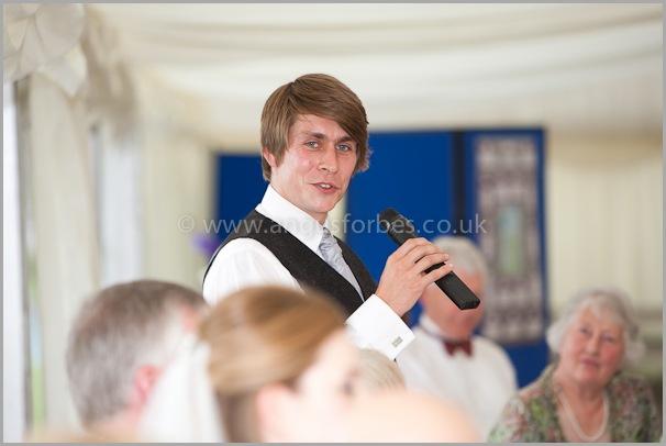 best man speech Wedding photographer at dollar academy, angus forbes