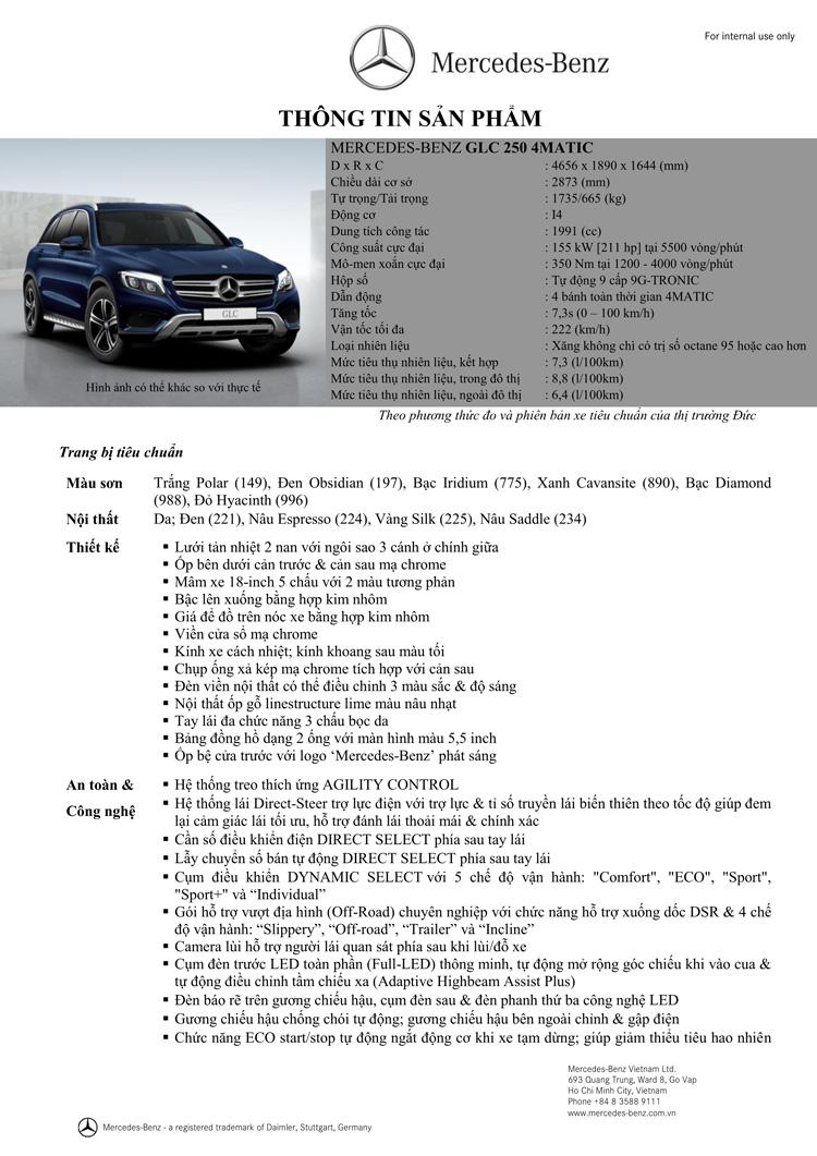 Thông số kỹ thuật xe Mercedes GLC 250 4Matic 01