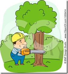 1059414-Royalty-Free-Vector-Clip-Art-Illustration-Of-A-Logger-Cutting-Down-A-Tree