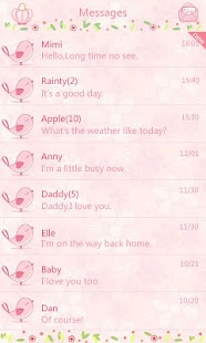GO SMS Pro Love Petal Theme EX - screenshot thumbnail