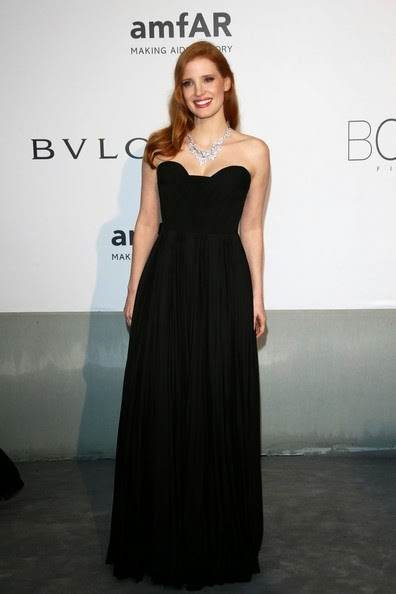 Jessica Chastain Arrivals Cinema Against AIDS Gala