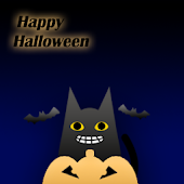 Halloween Black Cat Widget