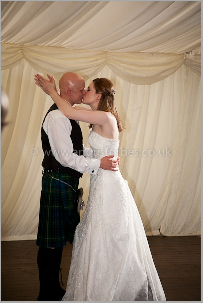 bridal dance in marquee wedding scotland