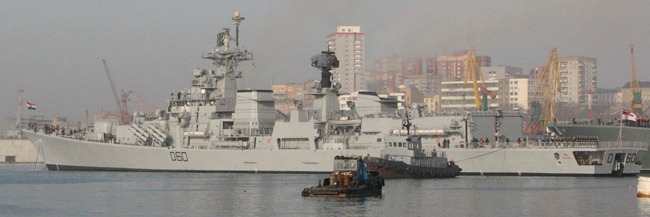 Delhi Class Destroyer INS Mysore [D60] of the Indian Navy