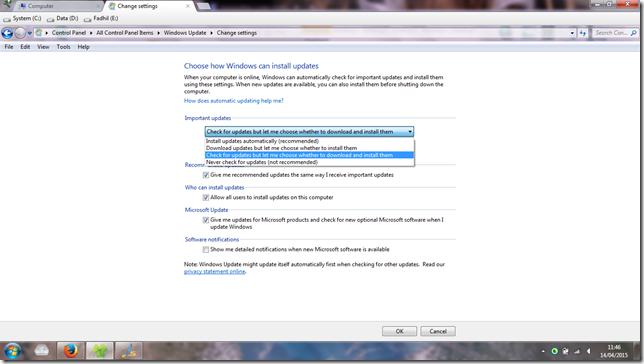 Trik update windows 7 bajakan