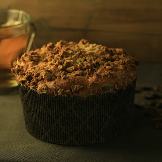 Giant  Muffin with chocolate /nuts/orange zest.