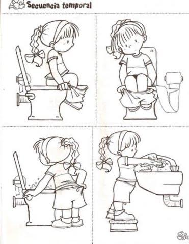 Dibujos Infantiles De Higiene Para Colorear La Higiene En