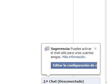 Facebook: Activar el chat solo para unos cuantos