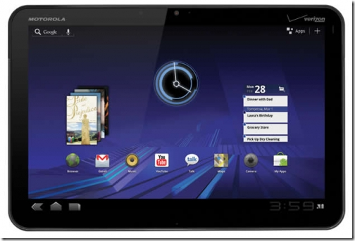 Apple Is Also Suing Motorola Over Xoom Tablet Design