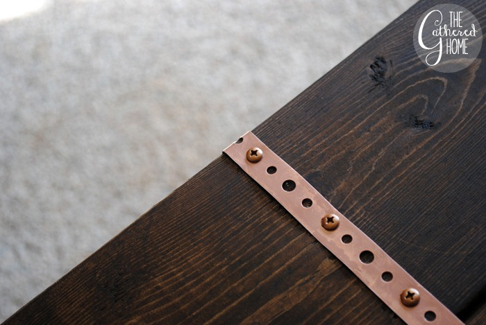 DIY Ikea Hack Plank Top Desk with Copper Accents