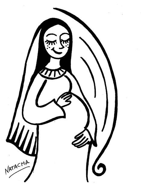 La Concepcion De La Virgen Maria En Laminas Para Colorear