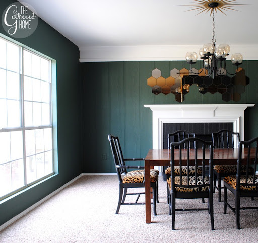 Dining Room Updates Black And Leopard Velvet Chairs3