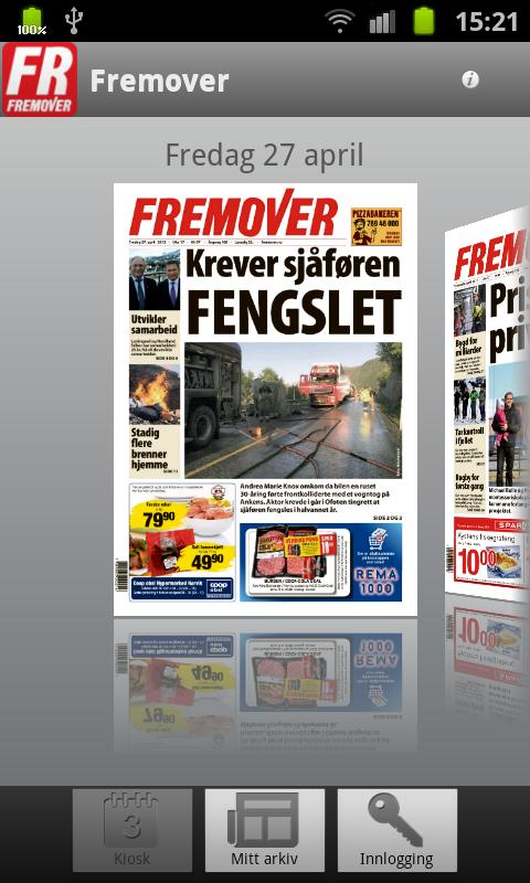 Fremover - screenshot