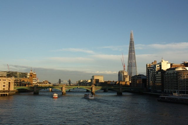 The Shard from the Millennium Bridge