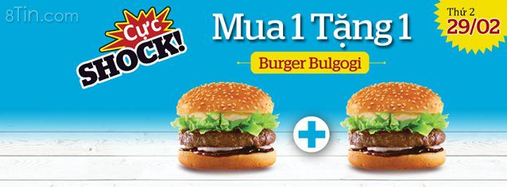 [CHỈ DUY NHẤT 1 NGÀY 29/02] Lotteria khuyến mãi Burger Bulgogi mua