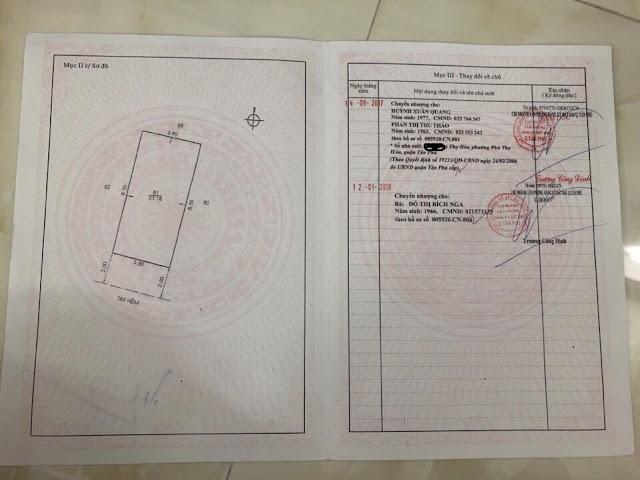 Bán nhà hẻm 250 Phú Thọ Hòa Quận Tân Phú 010