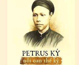 Chân dung học giả uyên bác Trương Vĩnh Ký trên một bìa sách bị chặn lại vì chế độ kiểm duyệt của CS.