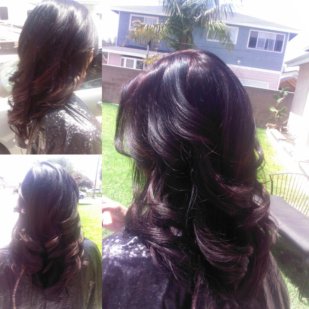 ... Hair Is Beautiful Hair..: Mocha haircolor w/ dark brown lowlights