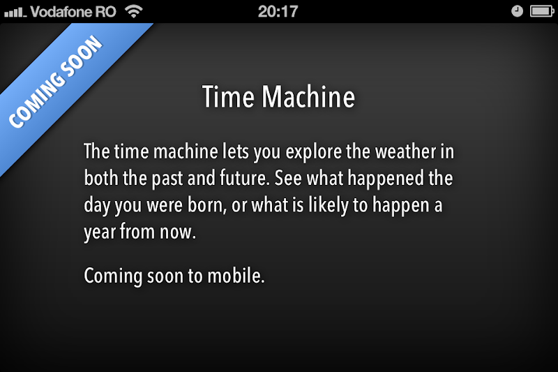 Forecast.io Time Machine coming soon