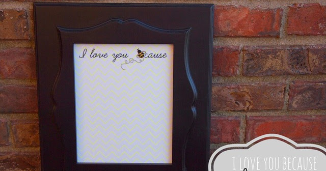 Ginger Snap Crafts I Love You Because Dry Erase Frame