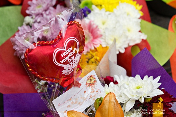 Valentine's Day at Dangwa Flower Market in Manila