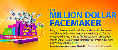 Singapore Changi Airport Million Dollar Facemaker