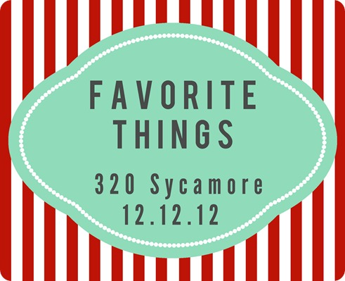 favorite things 2012