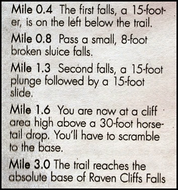 22f - Raven Cliffs Falls - List of Falls by mileage