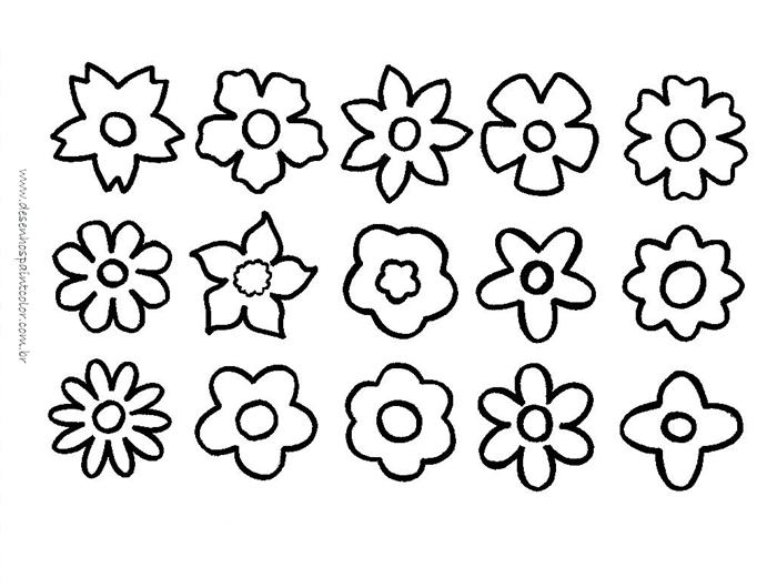 desenhos de flores para imprimir e colorir.www.desenhospaintcolor.com.br