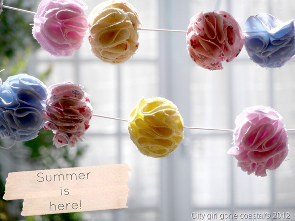 summer is here, fabric garland