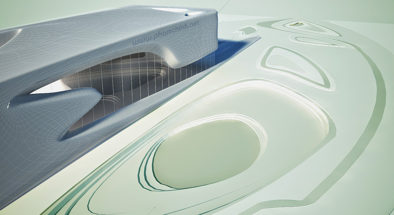 Modeling Zaha Hadid's building