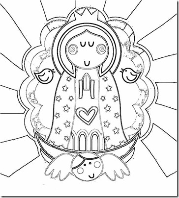 Virgen De Guadalupe Colorear Dibujos Colorear