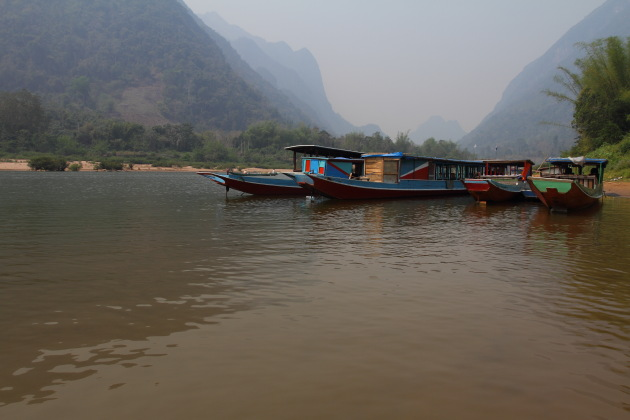 Scenic Boat Ride to Nong Khiaw from Muang Khua, Laos