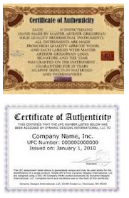 How to make a certificate of authenticity for artwork for Certificates of authenticity templates