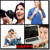 HAPPY- 4 Pics 1 Word Answers 3 Letters