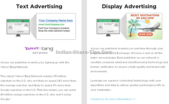 Yahoo advertisement through media net