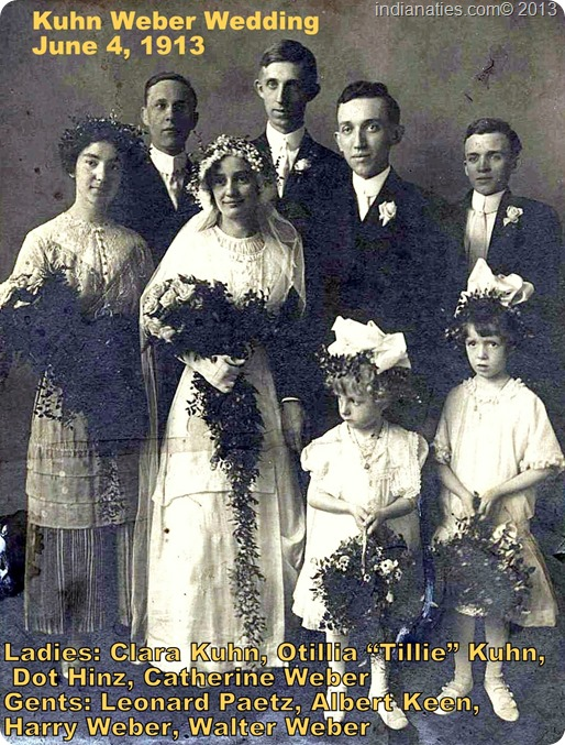Kuhn Weber Wedding - Harry and Tillie  1913