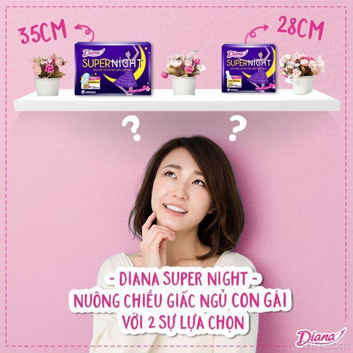 #bánhbèovôđịch là fan của Diana Super Night 28cm hay 35cm?