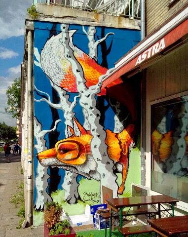 Graffiti Fassade Auftrag Hamburg