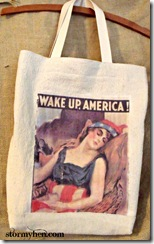 finished wake up tote