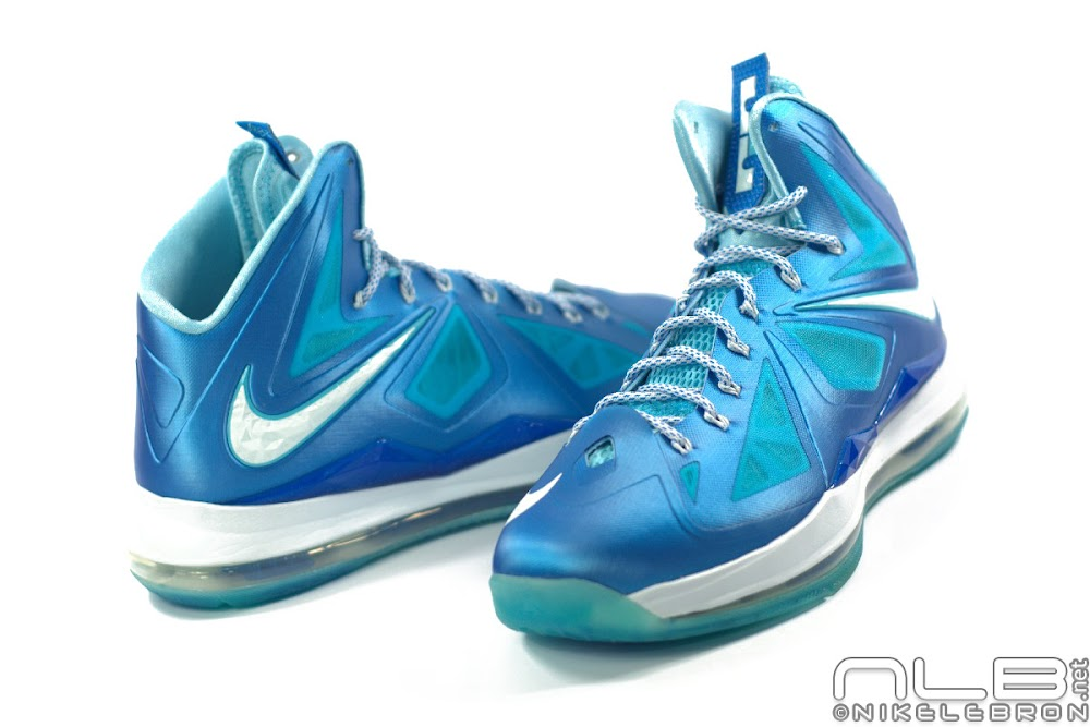 2df342fe55c1 ... The Showcase Nike LeBron X Sport Pack 8220Blue Diamond8221 ...