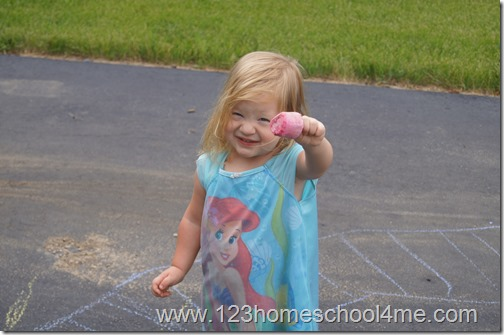 homemade chalk has more vibrant colors with no residue left on kids hands