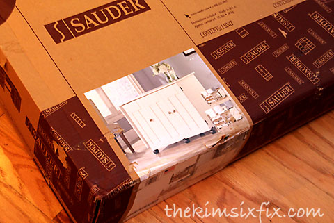 Sauder unassembled furniture