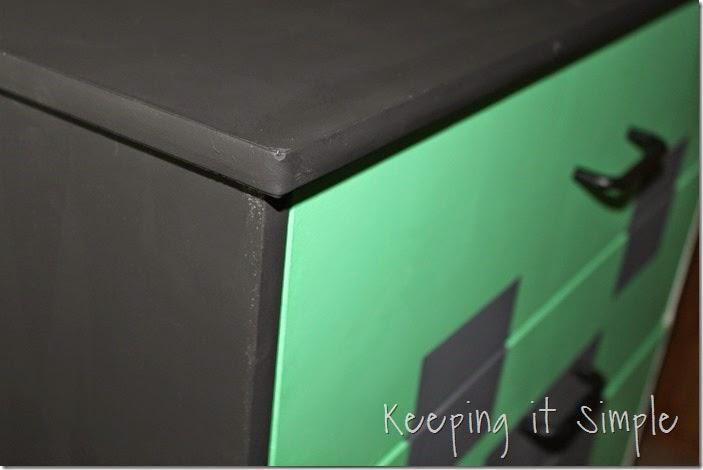 Minecraft Creeper Dresser with DecoArt Chalk Paint (8)