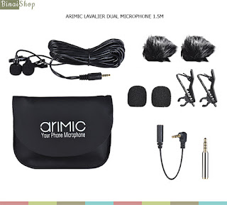 AriMic Clip-on Dual Lavalier