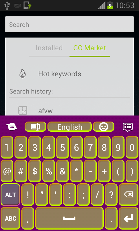 Neon Keyboard For Android - screenshot