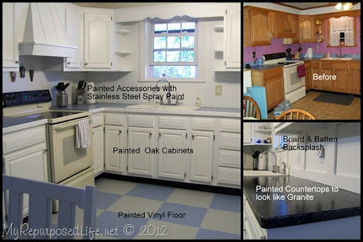 How to paint oak cabinets My Repurposed Life