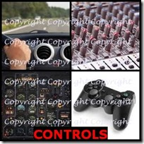 CONTROLS- 4 Pics 1 Word Answers 3 Letters